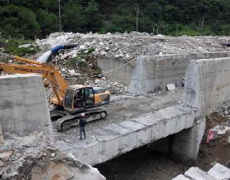 水电站混凝土墙大型切割拆除