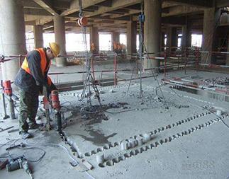 混凝土钻孔施工