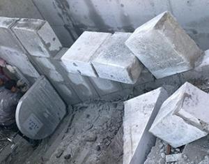 钢筋混凝土柱子切割破碎